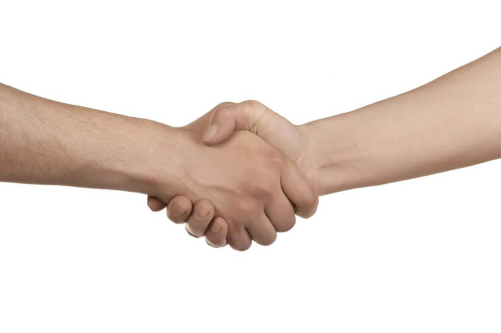 Handshake Isolated on White -iStock_000016554913_Medium