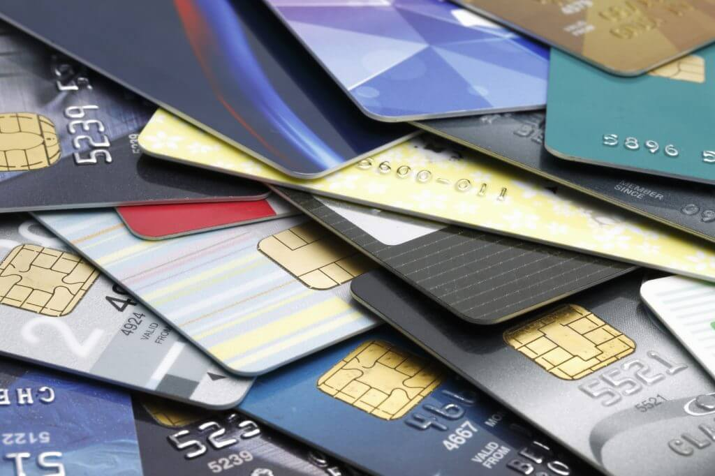 Stacked credit cards