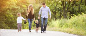 Trust Deeds Scotland family walking